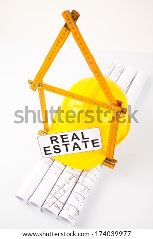real estate under construction  - stock photo