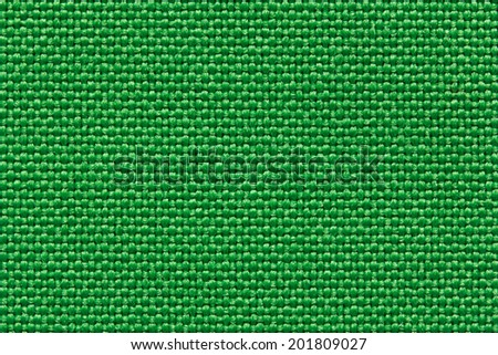Real green textile pattern. Close-up view. - stock photo