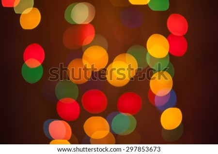 Real Light Bokeh abstract background with red, orange and yellow colors - stock photo