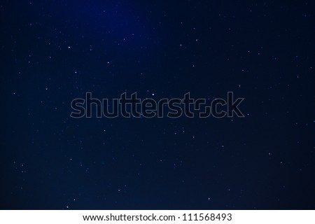 Real stars background at night long exposure - stock photo