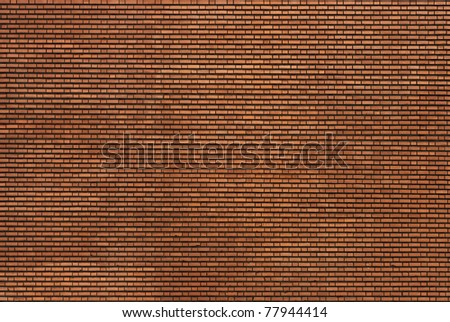 real unstitched brick wall - stock photo
