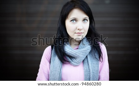 real woman - stock photo