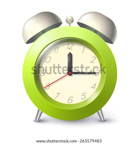 realistic alarm clock - stock photo