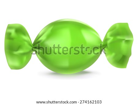 Realistic candy  illustration - stock photo