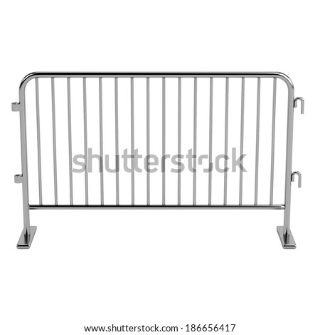 realistic 3d render of barrier - stock photo
