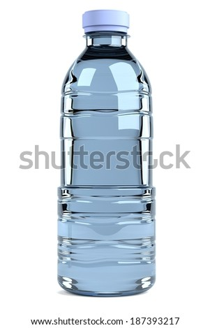 realistic 3d render of bottle - stock photo