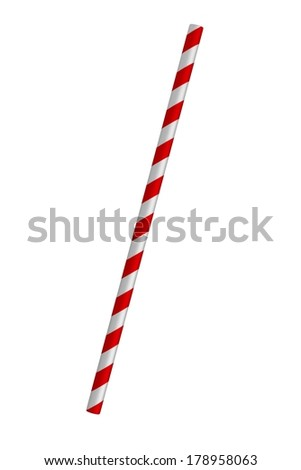 realistic 3d render of drinking straw - stock photo