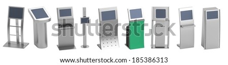 realistic 3d render of terminals - stock photo