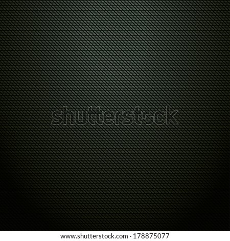 Realistic dark green carbon background, texture.  - stock photo