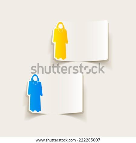 realistic design element: muslim - stock photo
