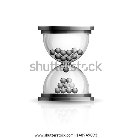 Realistic high detailed illustration of hourglass icon on white background - stock photo