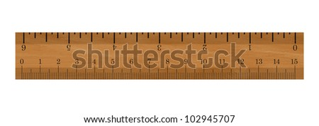 Realistic illustration of a ruler - Isolated on white background - stock photo