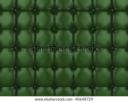 Realistic illustration of shiny buttoned leather. - stock photo