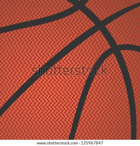 realistic rendition, illustration of basketball skin texture. - stock photo