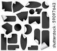 Realistic stickers with peeling corners. - stock photo