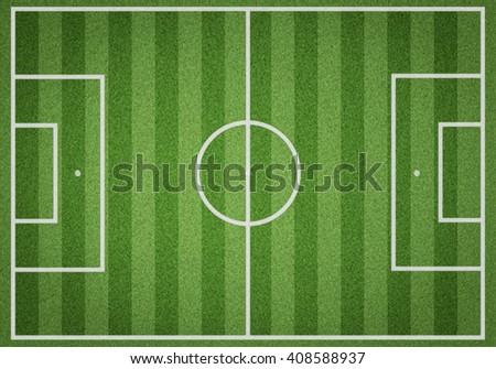 realistic textured grass football, soccer field - stock photo