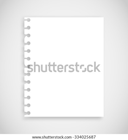 Realistic torn notebook paper - stock photo