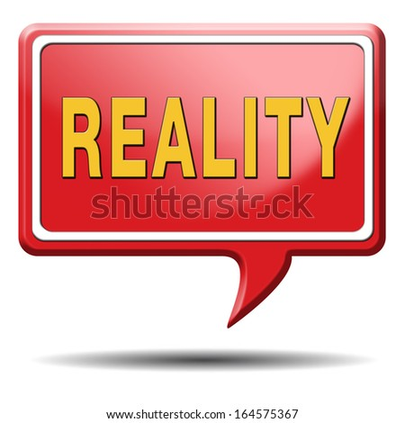 reality check for real and realistic goals  - stock photo