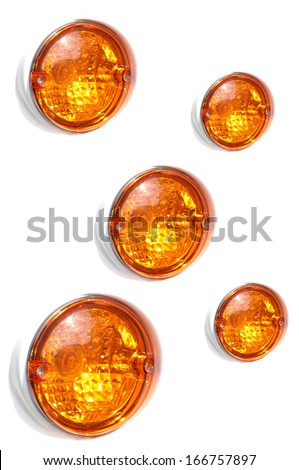 Rear car lights - stock photo