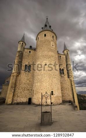 Rearguard tower of Alcazar of Segovia, Castilla-Leon, Spain - stock photo