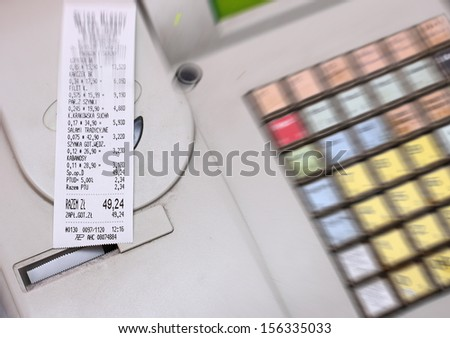 Receipt cash - stock photo