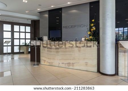 Reception area - stock photo