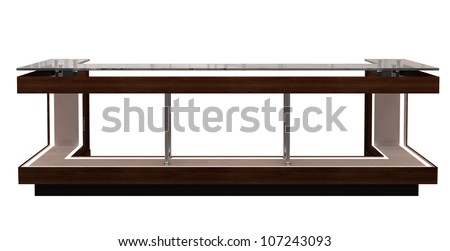 reception counter isolated on white - stock photo