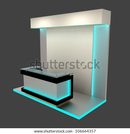 reception counter with stand - stock photo