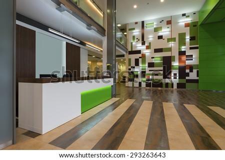 Reception desk - stock photo
