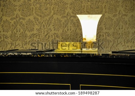 reception desk in a luxury hotel - stock photo