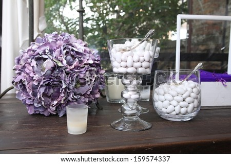 reception dinner table - stock photo