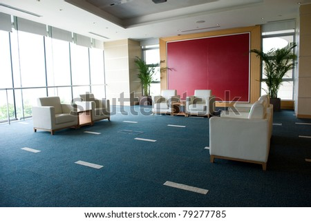 Reception room in a hotel in China. - stock photo