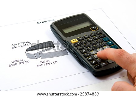 Recession Analysis - Cutting Cost to Save Money - stock photo