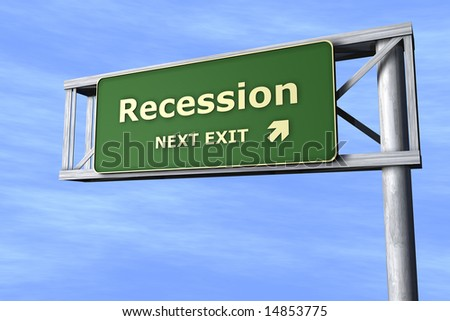 Recession - Next exit - stock photo