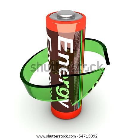 Rechargable Battery - stock photo