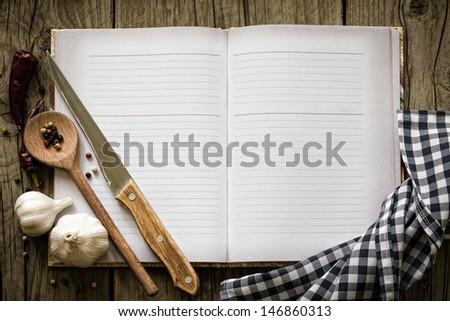 Recipe book - stock photo