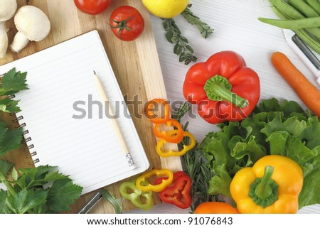 Recipe book - stock photo