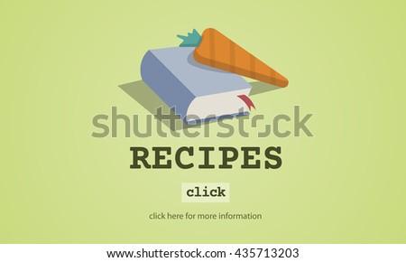 Recipes Food Menu Cafe Restaurant Concept - stock photo