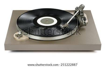 Record player - stock photo
