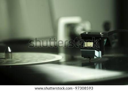 Record Player - stock photo