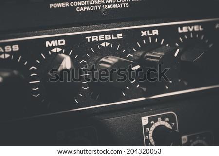 Recording Audio Equipment in recording studio - stock photo