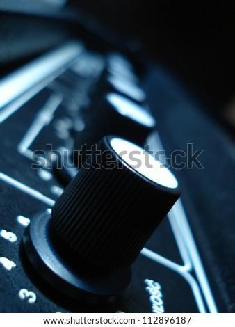 recording studio equipment - stock photo