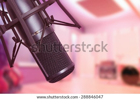 Recording Studio Microphone - stock photo