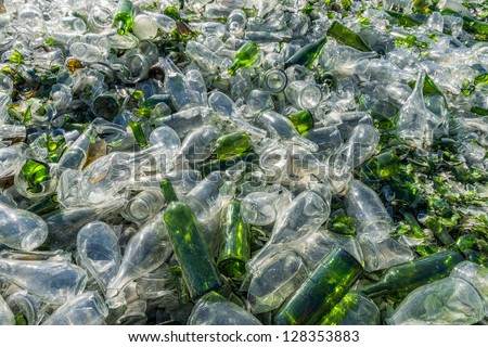 recovery of waste - stock photo
