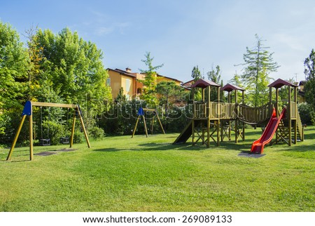 recreation ground for children - stock photo