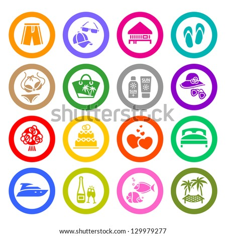Recreation, icons set. Vector copy also available - stock photo