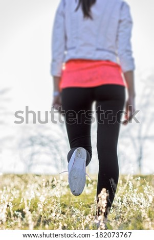 Recreational  walks in nature improves your health - stock photo