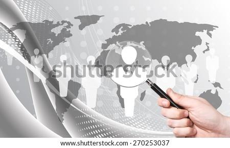 Recruitment, recruiting, hr. - stock photo