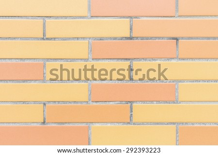 Rectangle ceramic tiles brick pattern wall texture background - stock photo