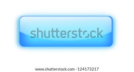 Rectangular blue glossy blank web button isolated - stock photo